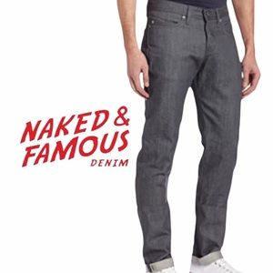 NAKED&FAMOUS- Weird Guy grey selvedge jeans